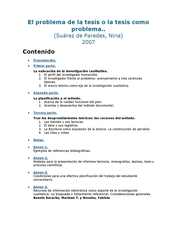 EL PROBLEMA DE LA TESIS o LA TESIS COMO PROBLEMA by JULIO SOBRINO ...