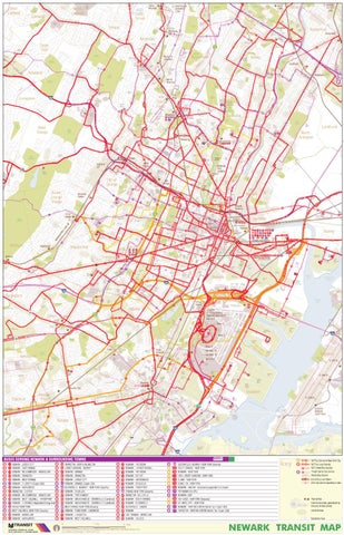 New Jersey Transit Newark Bus Map, 2004 by Eymund Diegel - issuu