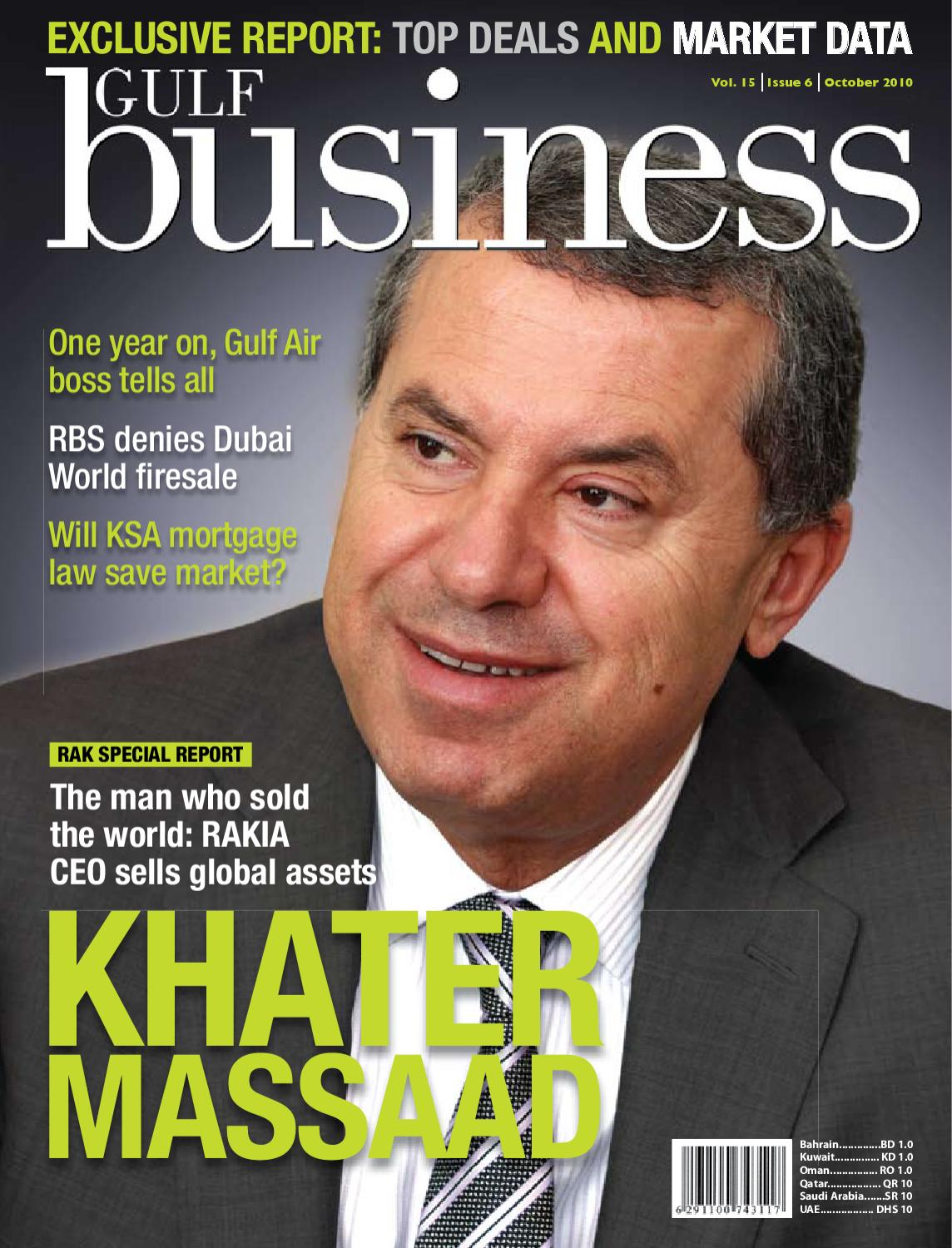 Gulf Business   October 2010 by Motivate Publishing - issuu