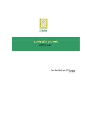 Expresión escrita by Ernesto Yañez - issuu