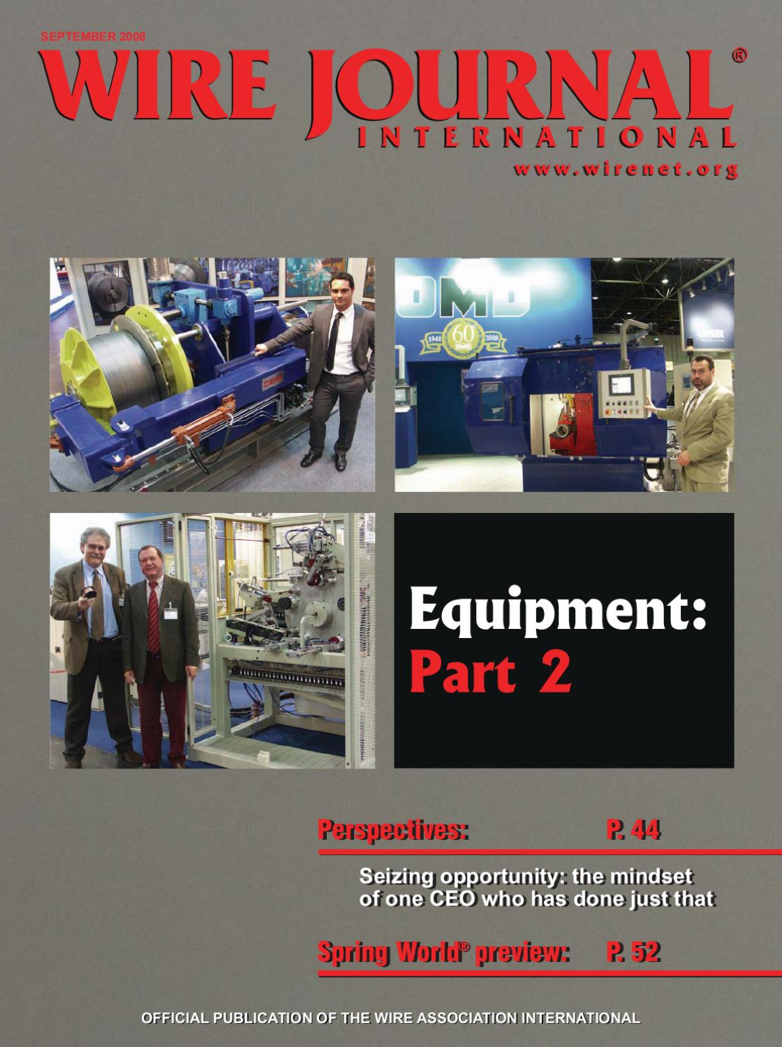Equipment: Part 2 by Wire Journal International, Inc. - issuu