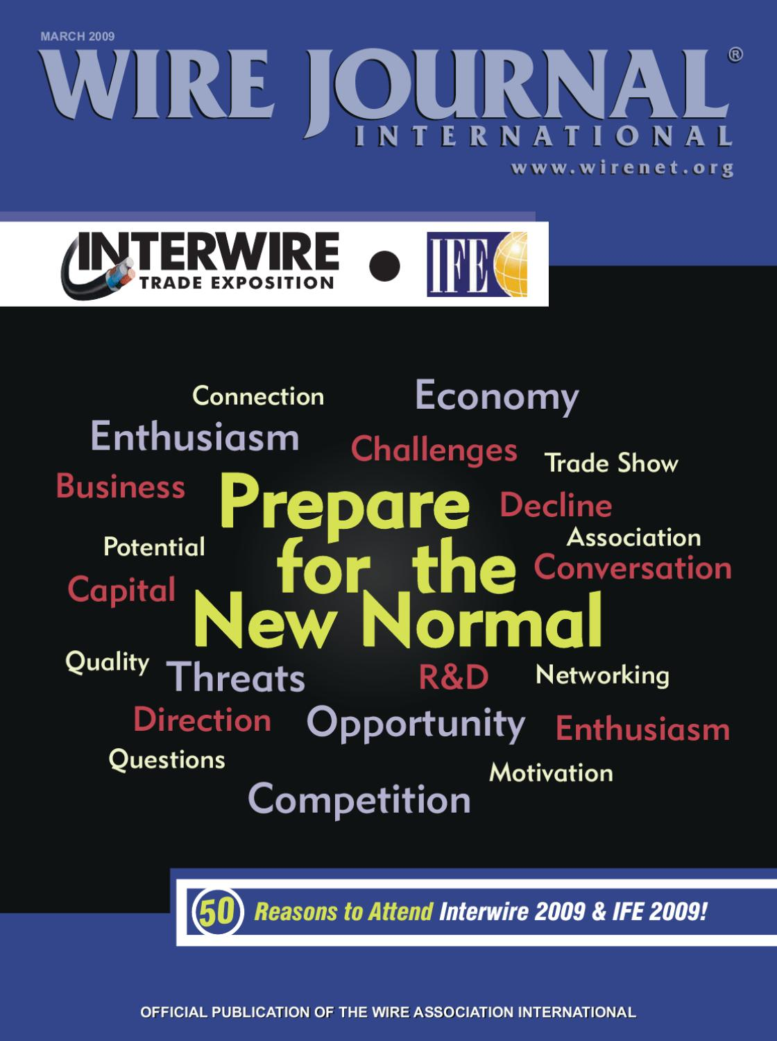 Prepare for the New Normal by Wire Journal International, Inc. - issuu