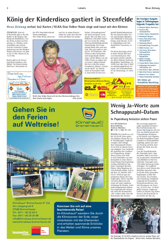 Neue Zeitung Ausgabe Emsland Kw 40 By Gerhard Verlag Gmbh Issuu