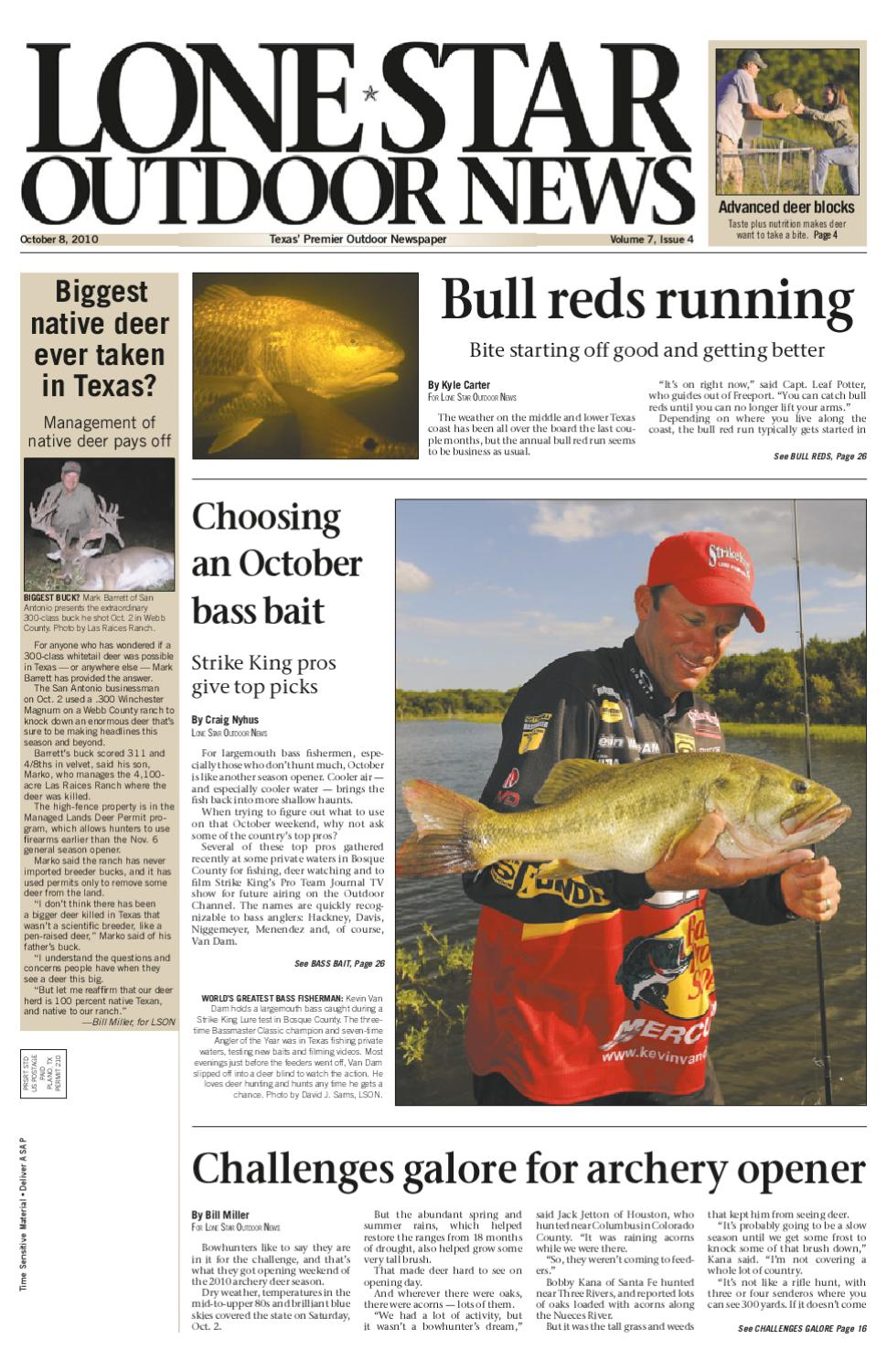 October 08, 2010 - Lone Star Outdoor News - Fishing & Hunting by