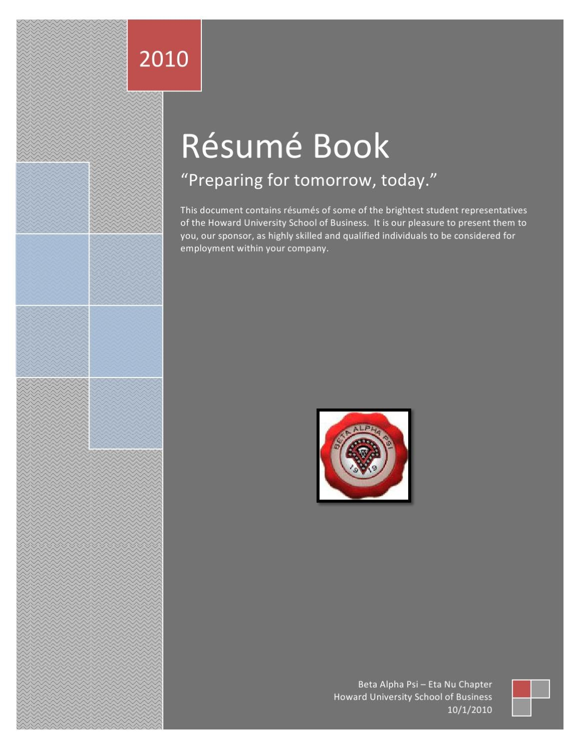 Resume Book 2010 by The Hilltop - issuu