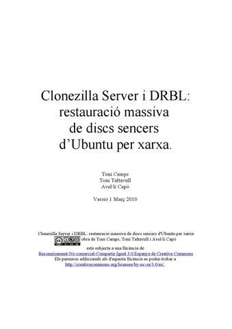 Clonezilla Server i DRBL: by Avel·lí Capó - issuu