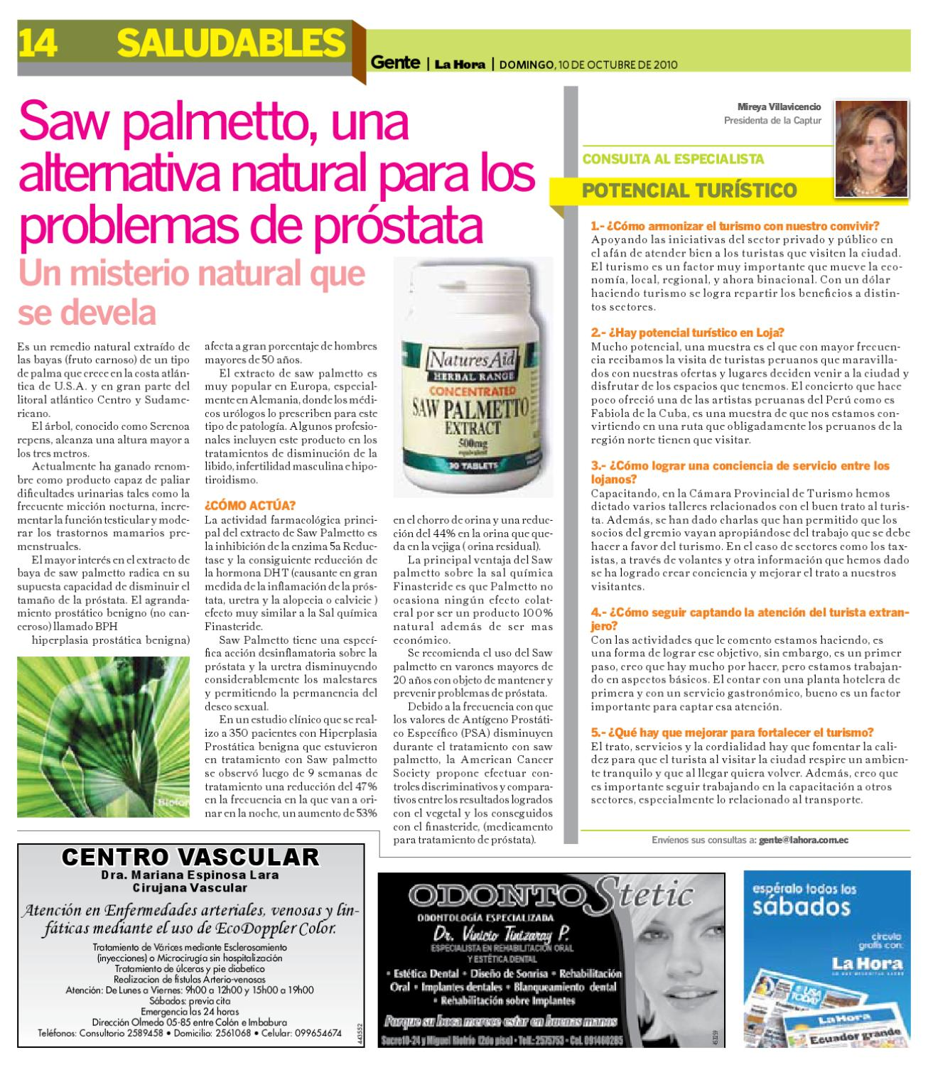 inflamación de la próstata serenoa repensar
