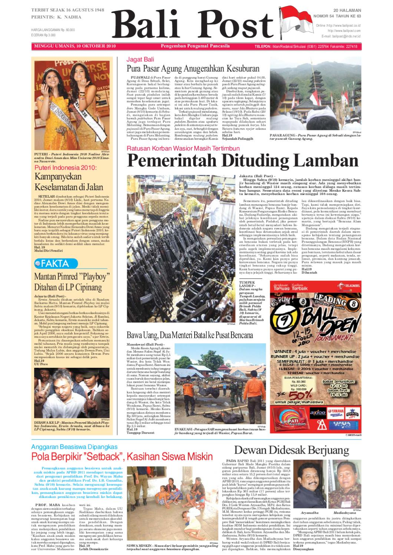 Edisi 5 Desember 2010 Balipostcom By E Paper Kmb Issuu Voucher 200 Double Point Sticker Tiara Gatzu Monang Maning Toko Soputan 10 Oktober