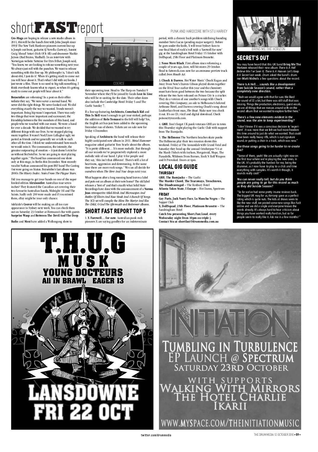 Drum Media Sydney Issue #1030 by TheMusic com au - issuu