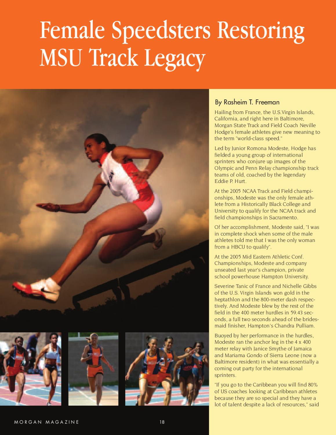 Morgan Magazine 2005 Issue by Morgan State University - issuu