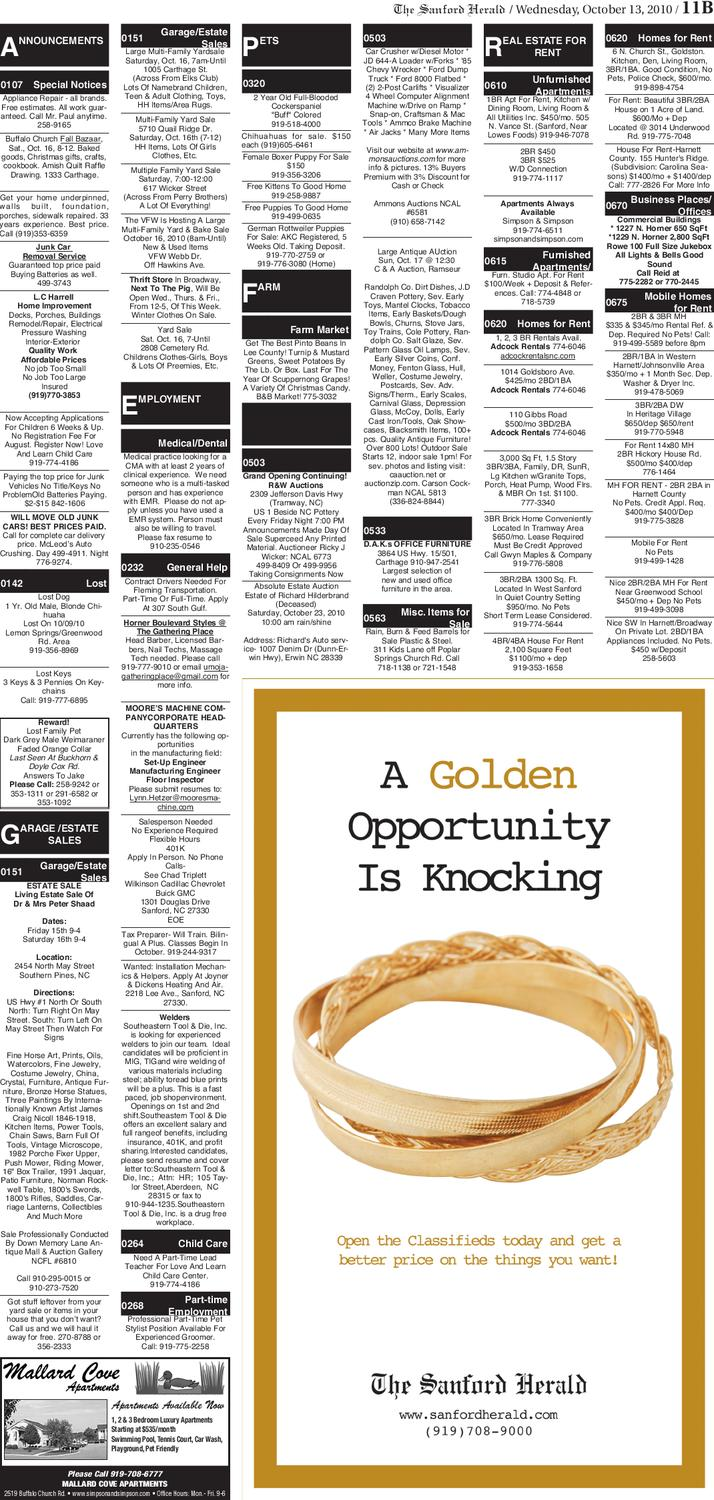 Oct 13 2010 By The Sanford Herald Issuu