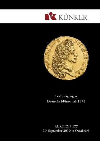 kunker auktion 281 munzen und medaillen aus mittelalter und neuzeit deutsche munzen ab 1871 by fritz rudolf kuenker gmbh co kg issuu