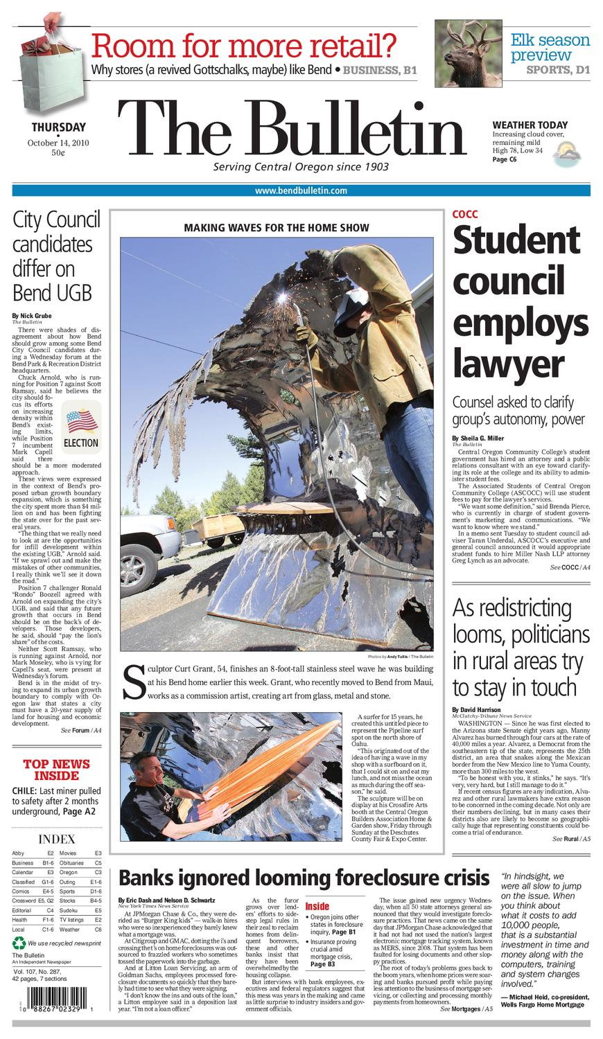 Bulletin Daily Paper 10/14/10 by Western Communications, Inc ... -