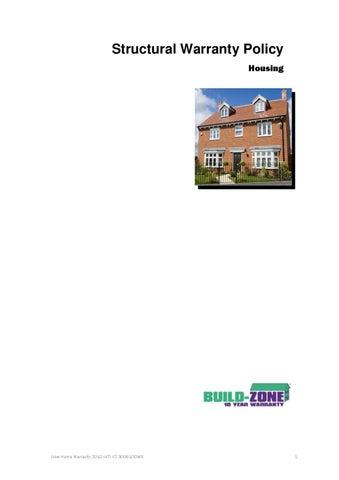 Build Zone Structural Warranty   New Home Warranty
