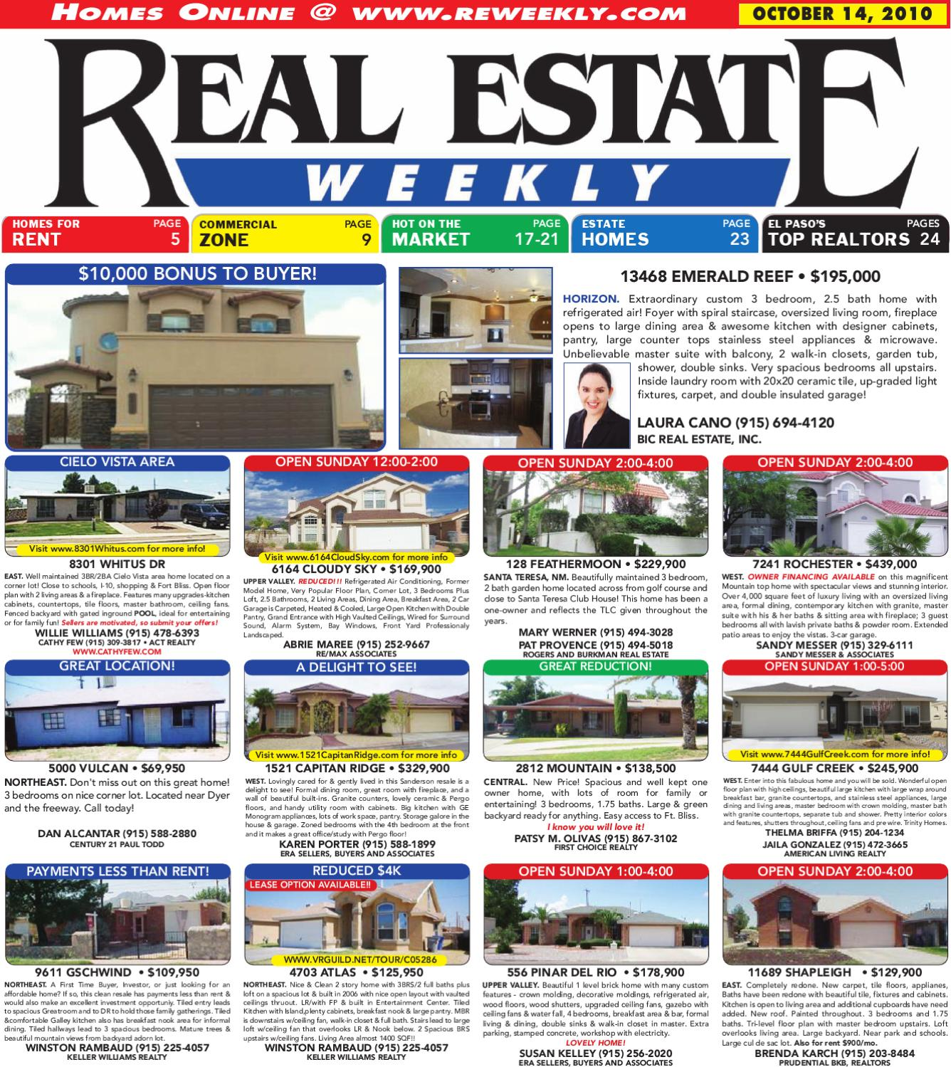 10 14 2010 real estate weekly by mesa publishing corp blue sky