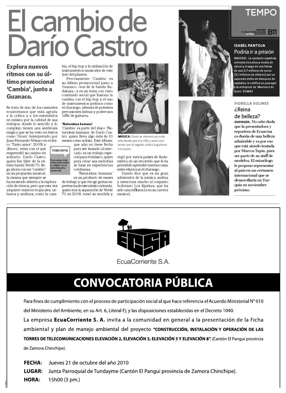Diario La Hora El Oro 15 octubre 2010 by Diario La Hora