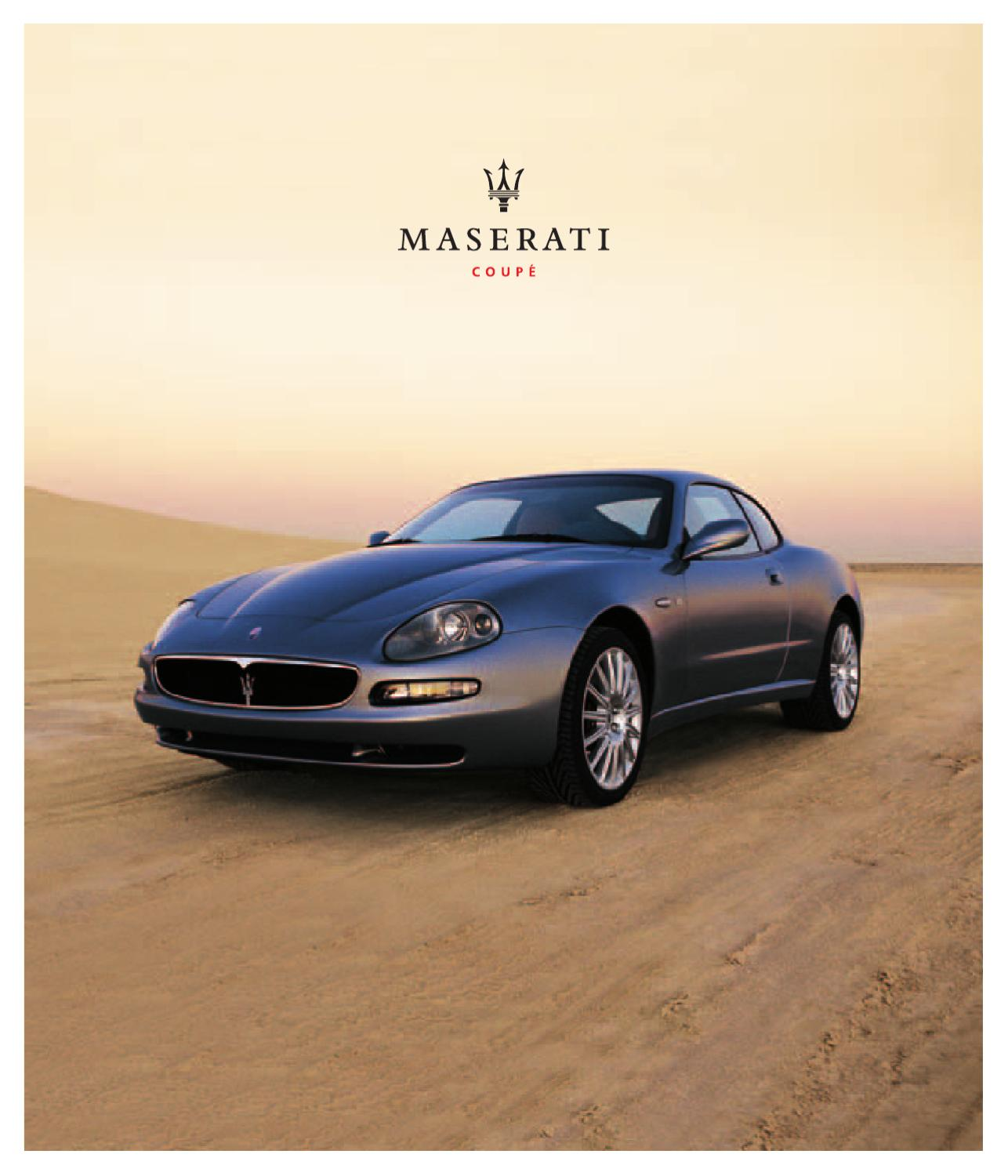 2003 Maserati Coupe Brochure By Ted Sluymer