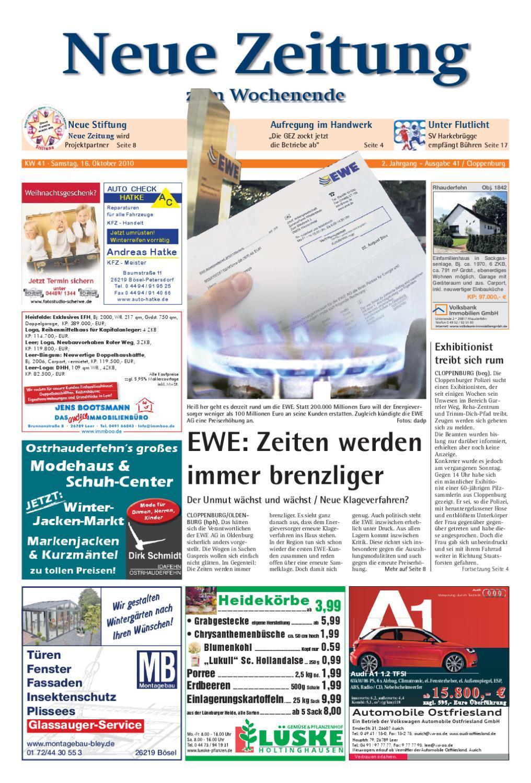 Neue Zeitung - Ausgabe Cloppenburg KW 41 by Gerhard Verlag GmbH - issuu