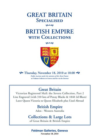 Stamps auction catalogue: Great Britain and British Empire 2010 by