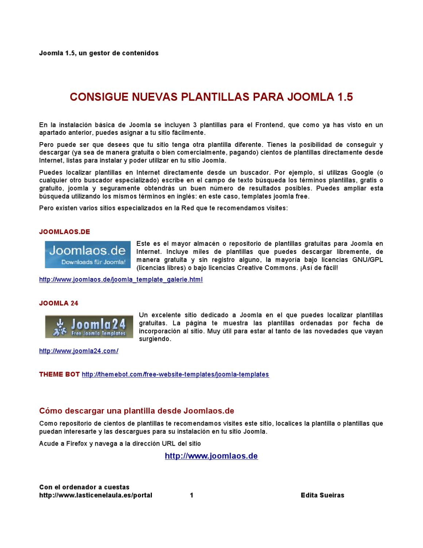 Joomla 1.5: cómo conseguir plantillas gratuitas by Edita Sueiras - issuu