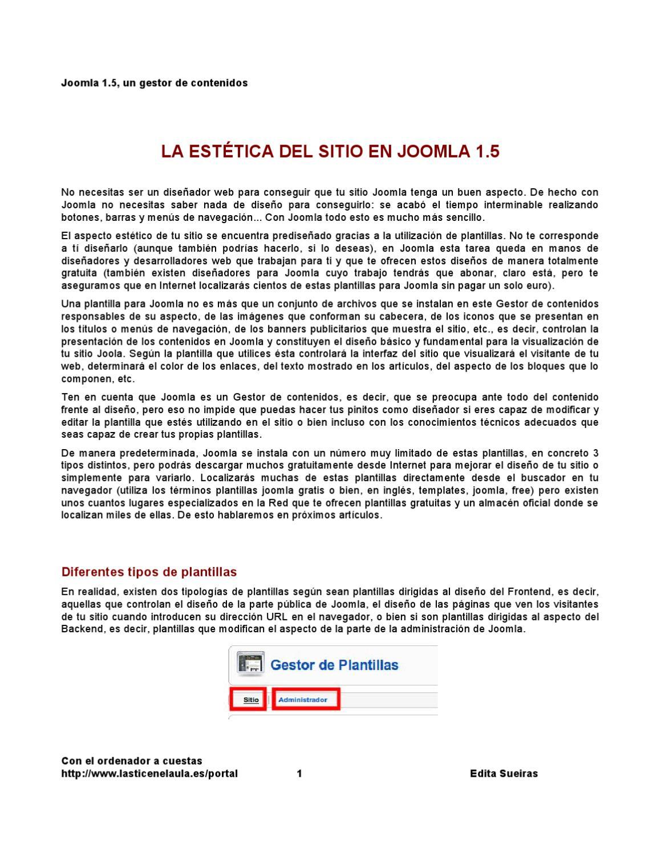 Joomla 1.5: la estética del sitio by Edita Sueiras - issuu