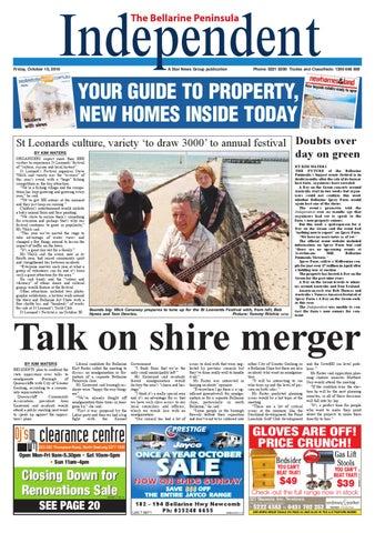 bellarine independent 15 10 2010 star news group local news sport