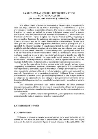 Segmentación Del Texto Dramático Contemporáneo Patrice Pavis By Oscar Albahaca Issuu