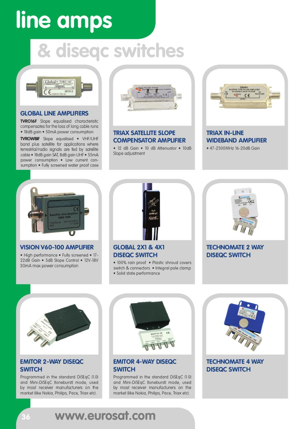 2011 Eurosat Product Guide By Issuu 2 Way Satellite Switch