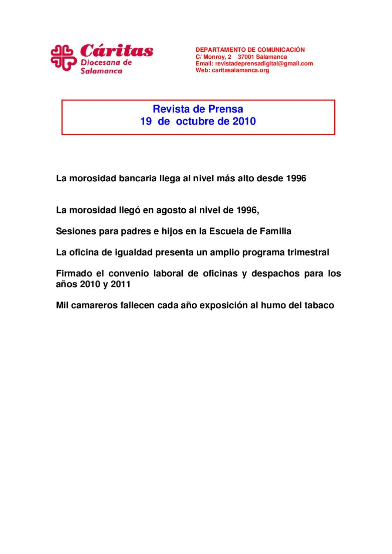 Revista de prensa 19 de octubre by revista prensa issuu for Convenio colectivo oficinas y despachos zaragoza