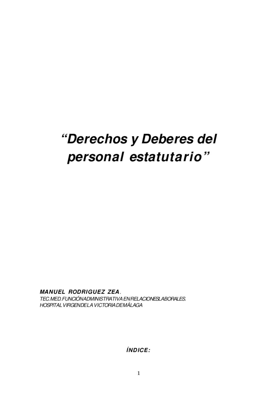 Derechos y deberes del personal estatutario by formacion axarquia ...