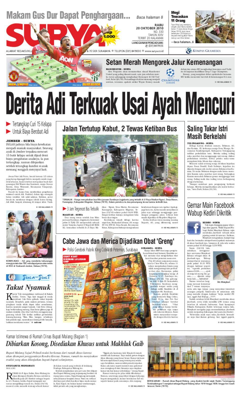 Surya Edisi Cetak 20 Oktober 2010 By Harian Issuu Produk Ukm Bumn Jamu Instan Abah Aromahtrenggalek