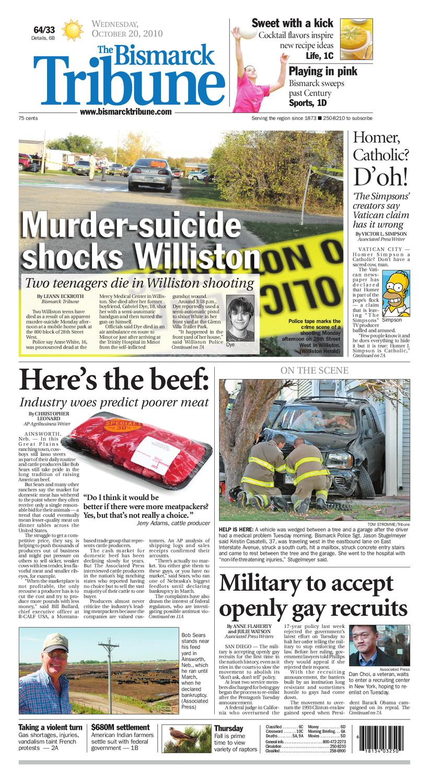 3da0f6c300 Bismarck Tribune - Oct. 20