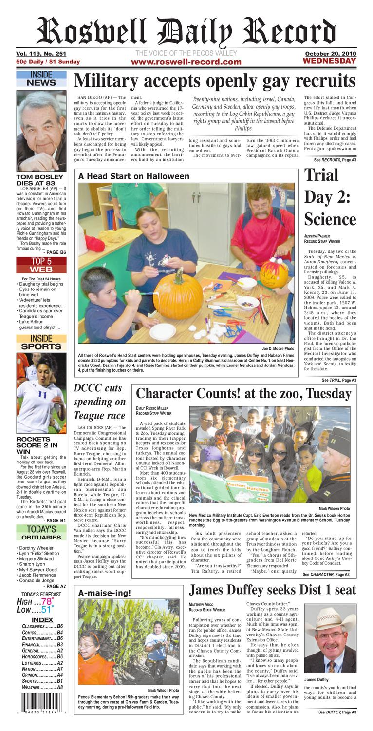 Newspaper By Roswell Daily Record Issuu