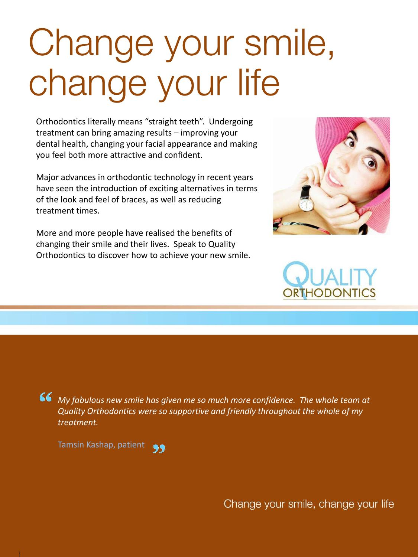 quality orthodontics brochure by cathy holliday issuu