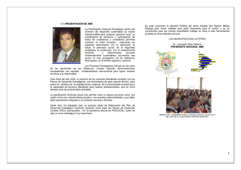Plan Desarrollo Estrategico Cantón SANTA ANA by Edison Mero - issuu 597ab613afd
