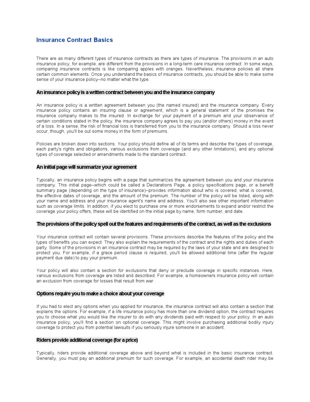 Insurance-Contract-Basics by beam alife - Issuu