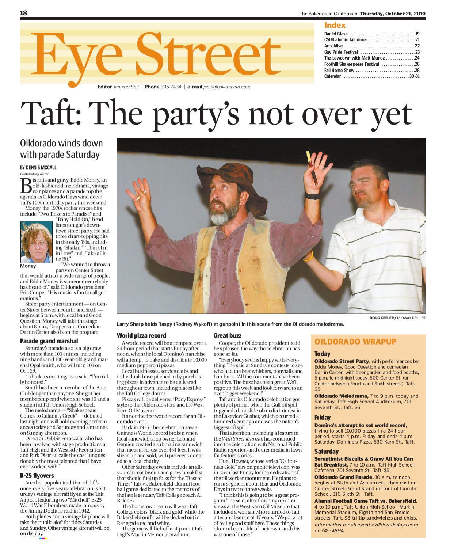 The Bakersfield Californian 'Eye St.' Entertainment / 10-21-10