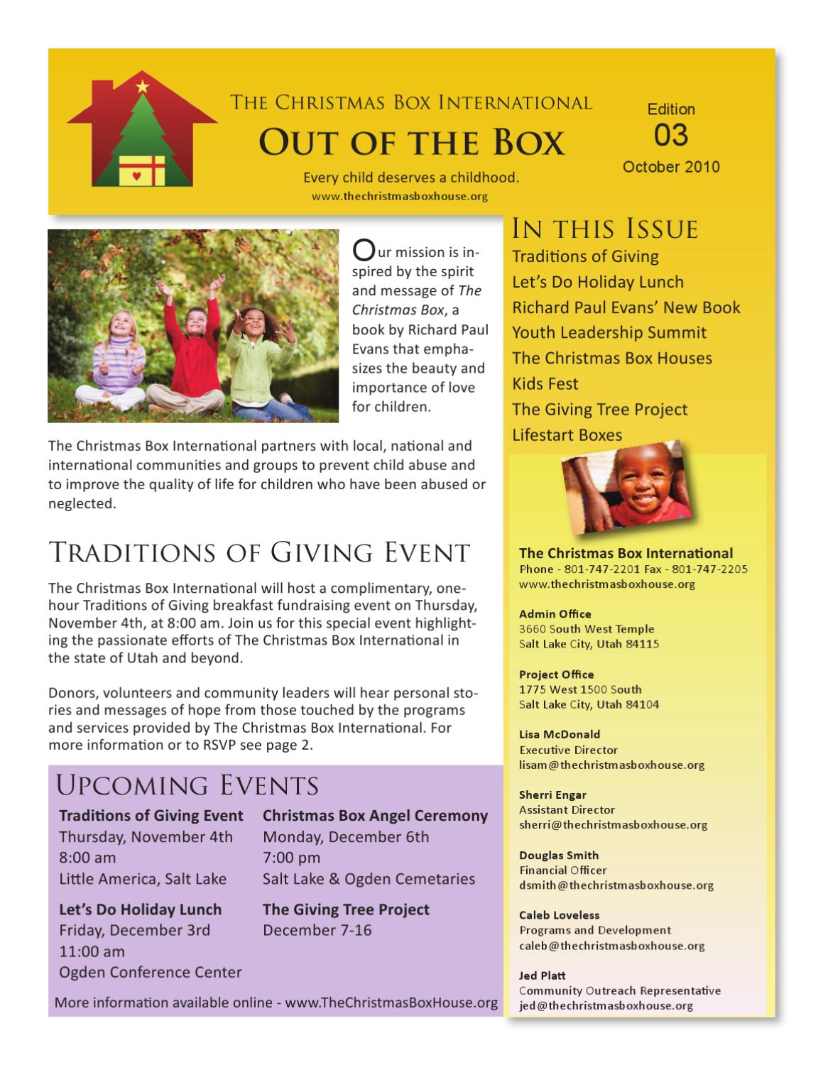 The Christmas Box International - October Newsletter by The ...
