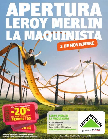 Apertura de la tienda de la maquinista by leroy merlin espa a issuu - Musique pub leroy merlin ...