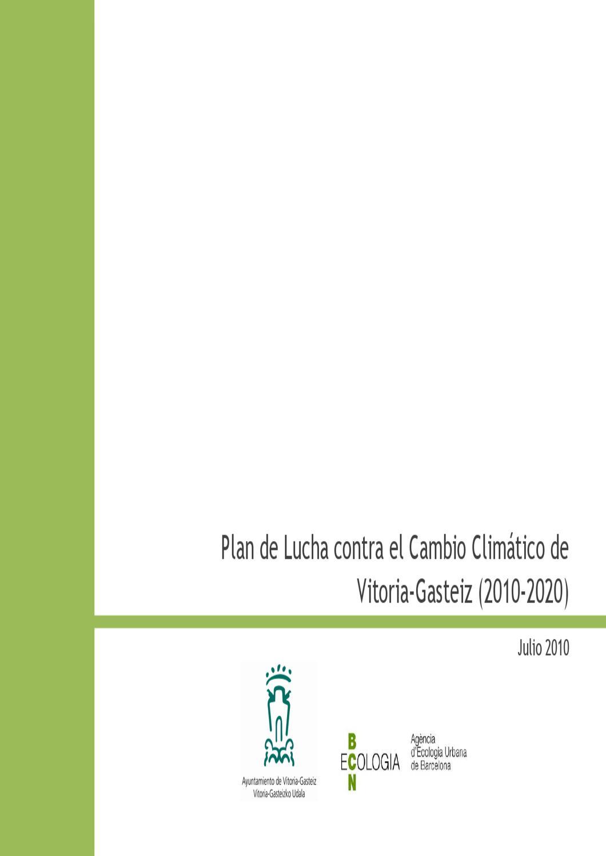 Calendario Escolar 2020 2020 Barcelona.Plan De Lucha Contra El Cambio Climatico Vitoria Gasteiz By