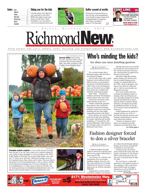 ba1e3e0a33a Richmond News October 22 2010 by Postmedia Community Publishing - issuu