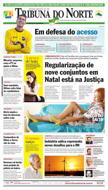 d585b8dd9 Tribuna do Norte - 24/10/2010 by Empresa Jornalística Tribuna do Norte Ltda  - issuu