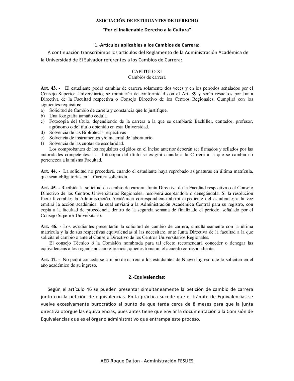 Formato con Explicacion de Cambio de Carrera by Ayuda Estudiantil ...