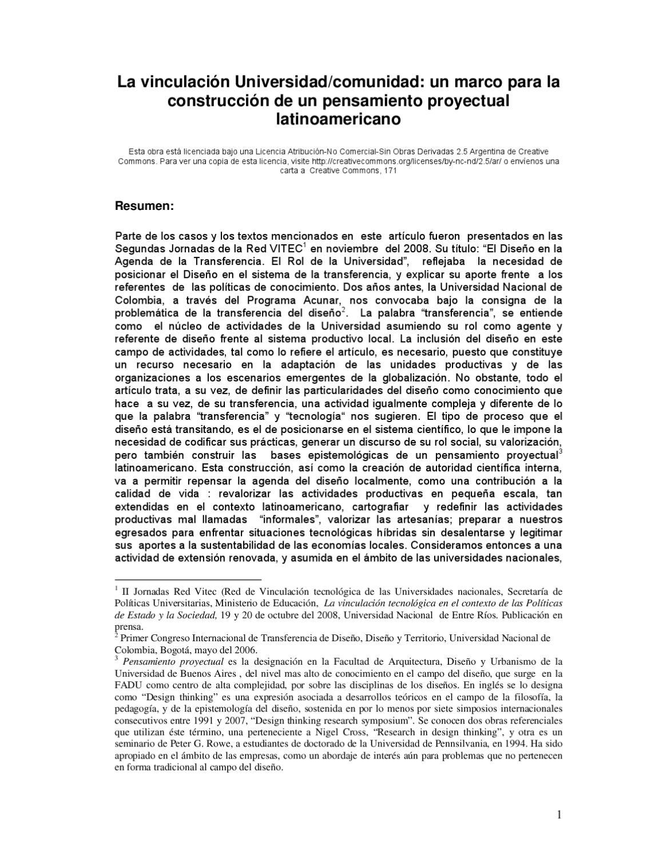 La vinculación Universidadcomunidad un marco para la construcción de ...