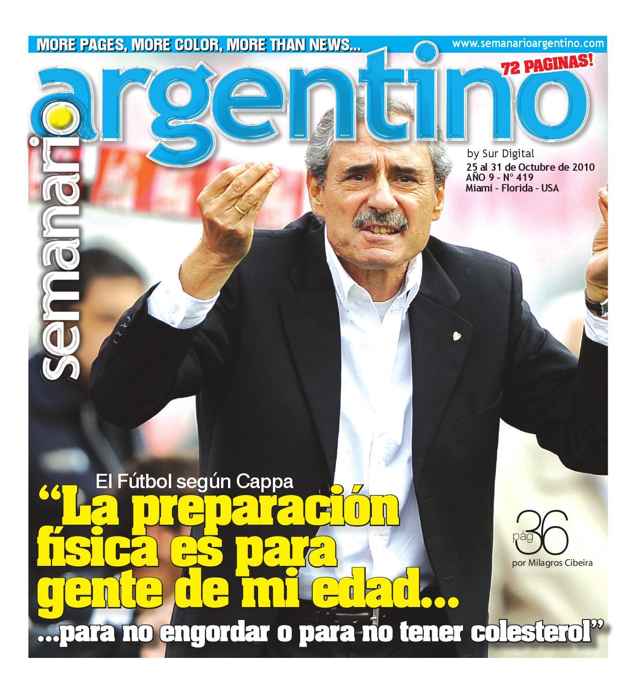 Anays Leyva Edad semanario argentino nro. 419 (10/25/10)semanario