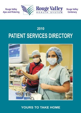 Rouge Valley Health System Patient Services Directory by