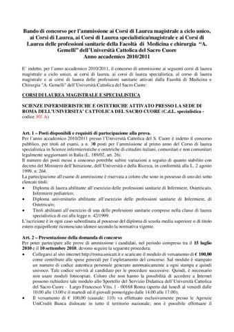 Magistrale Scienze Infermieristiche E Ostetriche Ucsc By Francesco Paoli Issuu