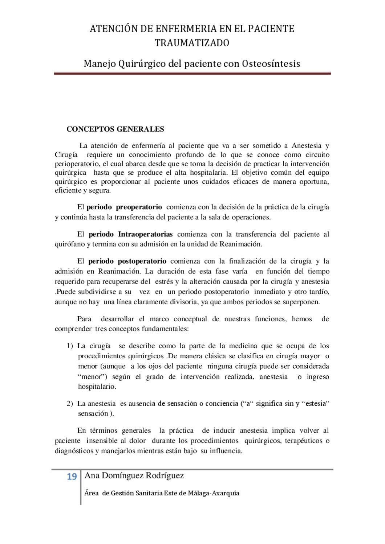 Circuito Quirurgico : Atencion de enfemeria en el paciente traumatizado by formacion