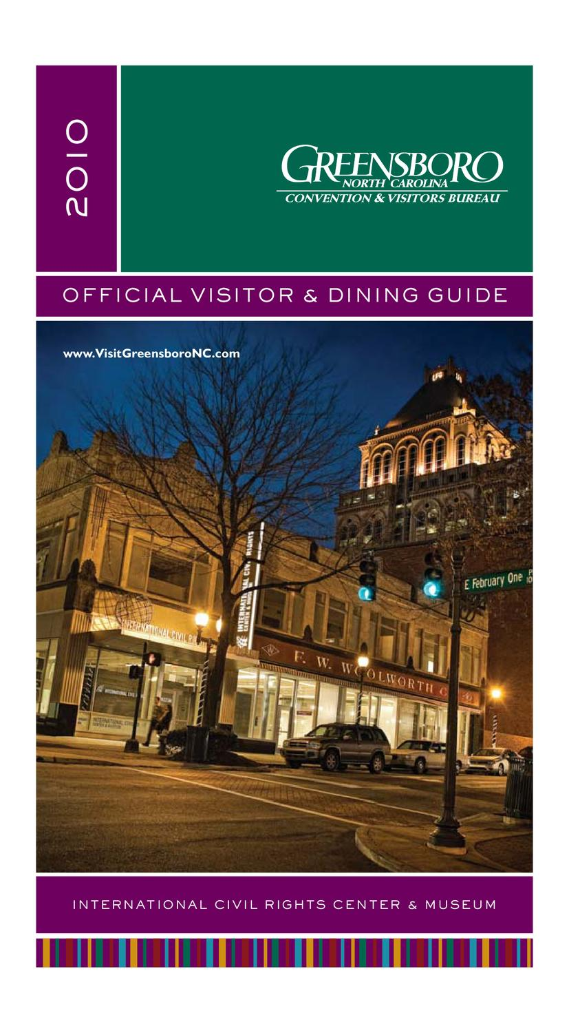 2010 Official Greensboro Visitor & Dining Guide by Greensboro Area ...