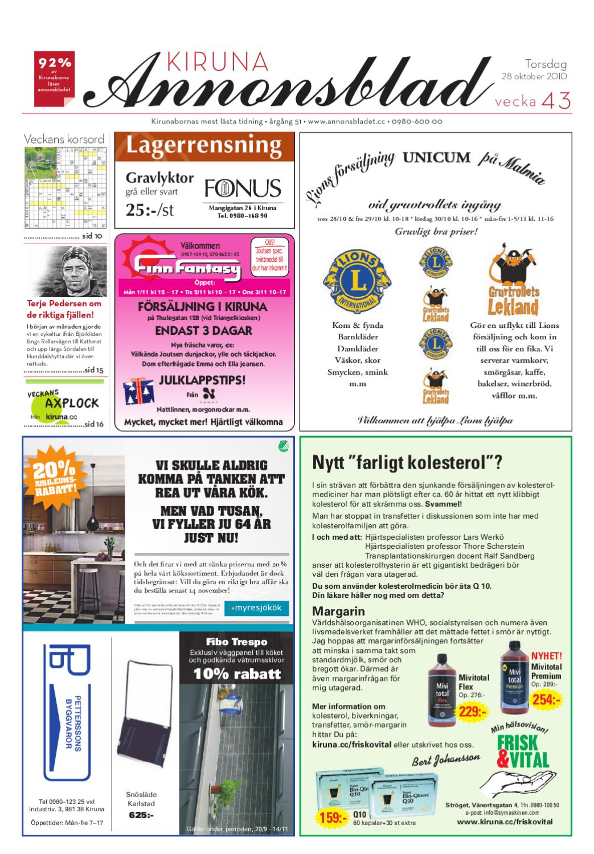 Kiruna Annonsblad 2010 v.43 by Svenska Civildatalogerna AB - issuu 4f5498d4d5ac5